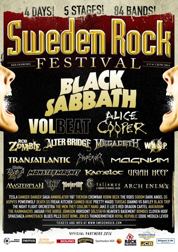 Sweden Rock Festival 2014 Lineup