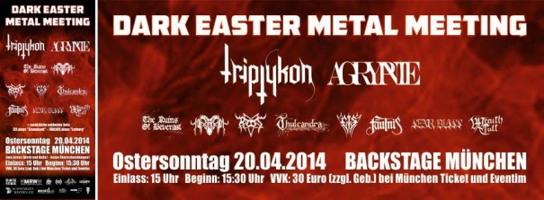 Dark Easter Metal Meeting 2014 Lineup