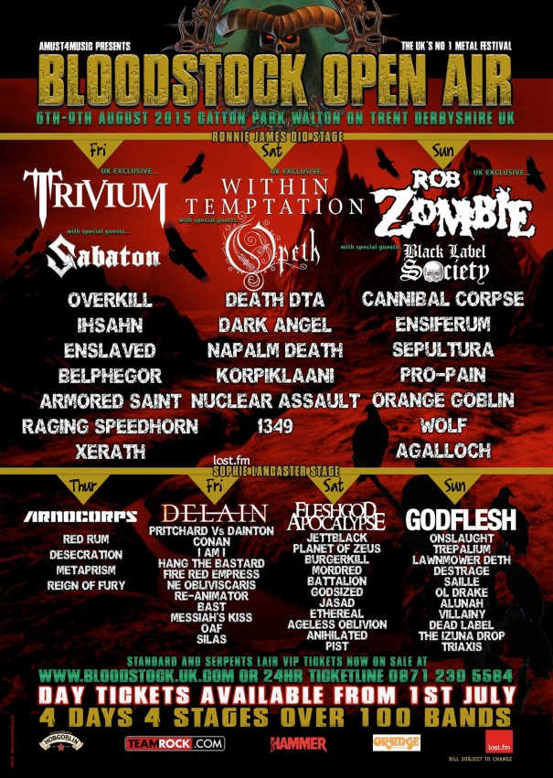Bloodstock 2015 Lineup