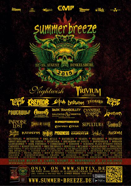 Summber Breeze 2015 Lineup 1