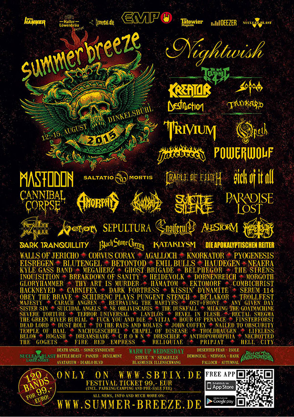 Summber Breeze 2015 Lineup 2