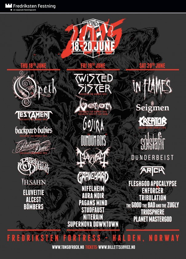 Tons of Rock 2015