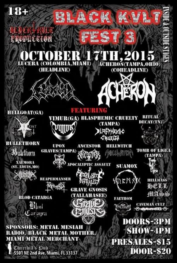 Black Kvlt Fest 3 Florida's Black Metal Festival