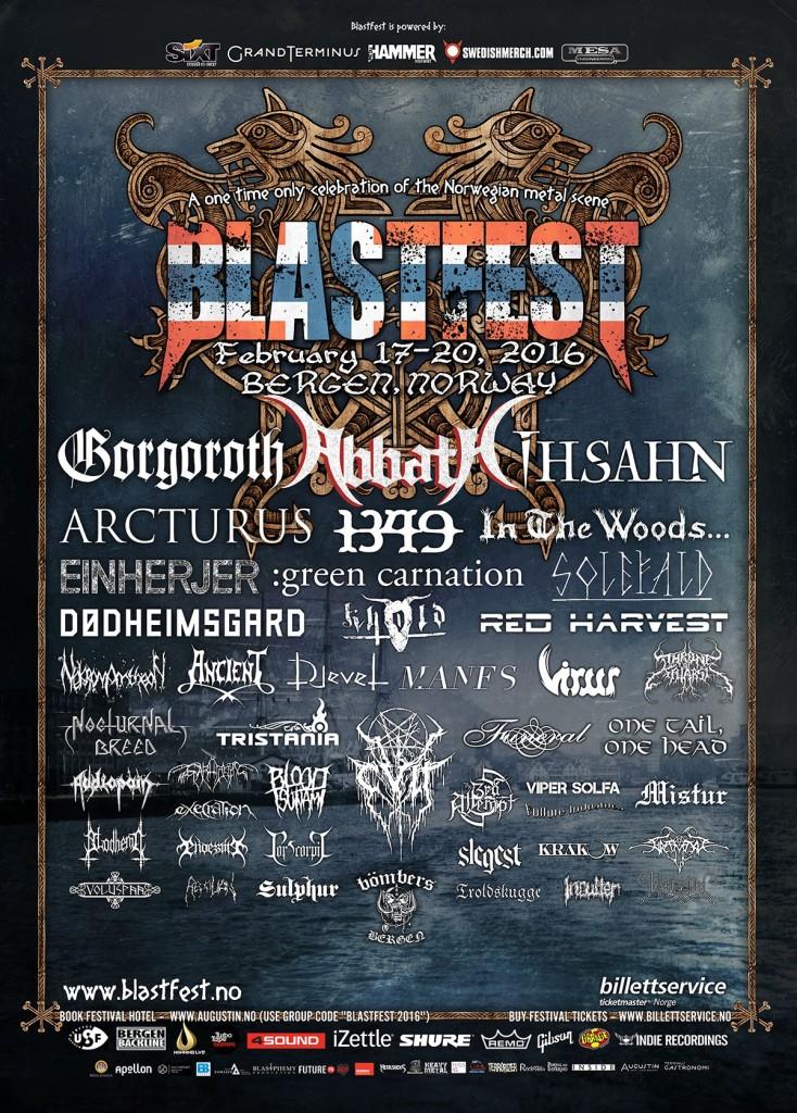 Blastfest 2016 Final Lineup