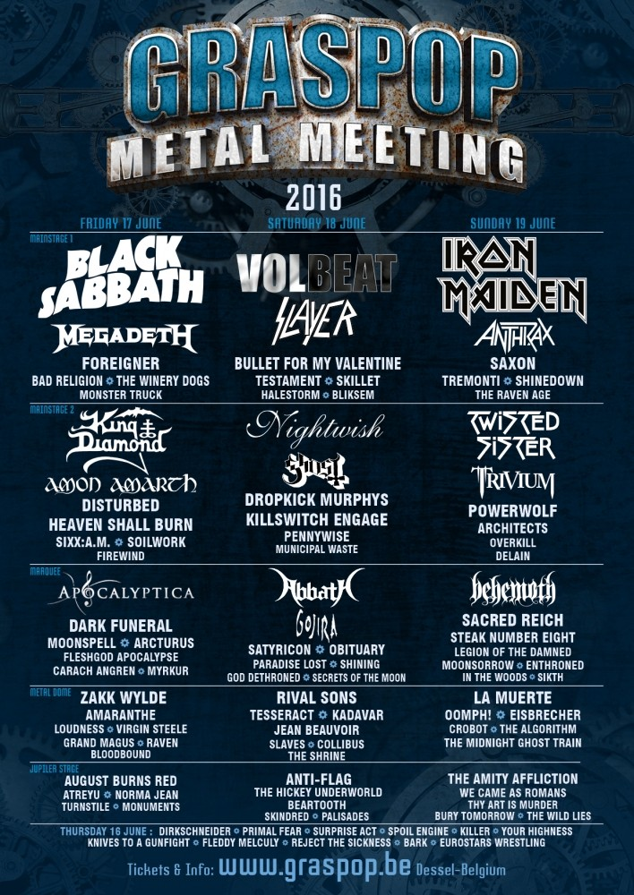 Graspop Metal Meeting 2015 Lineup 3