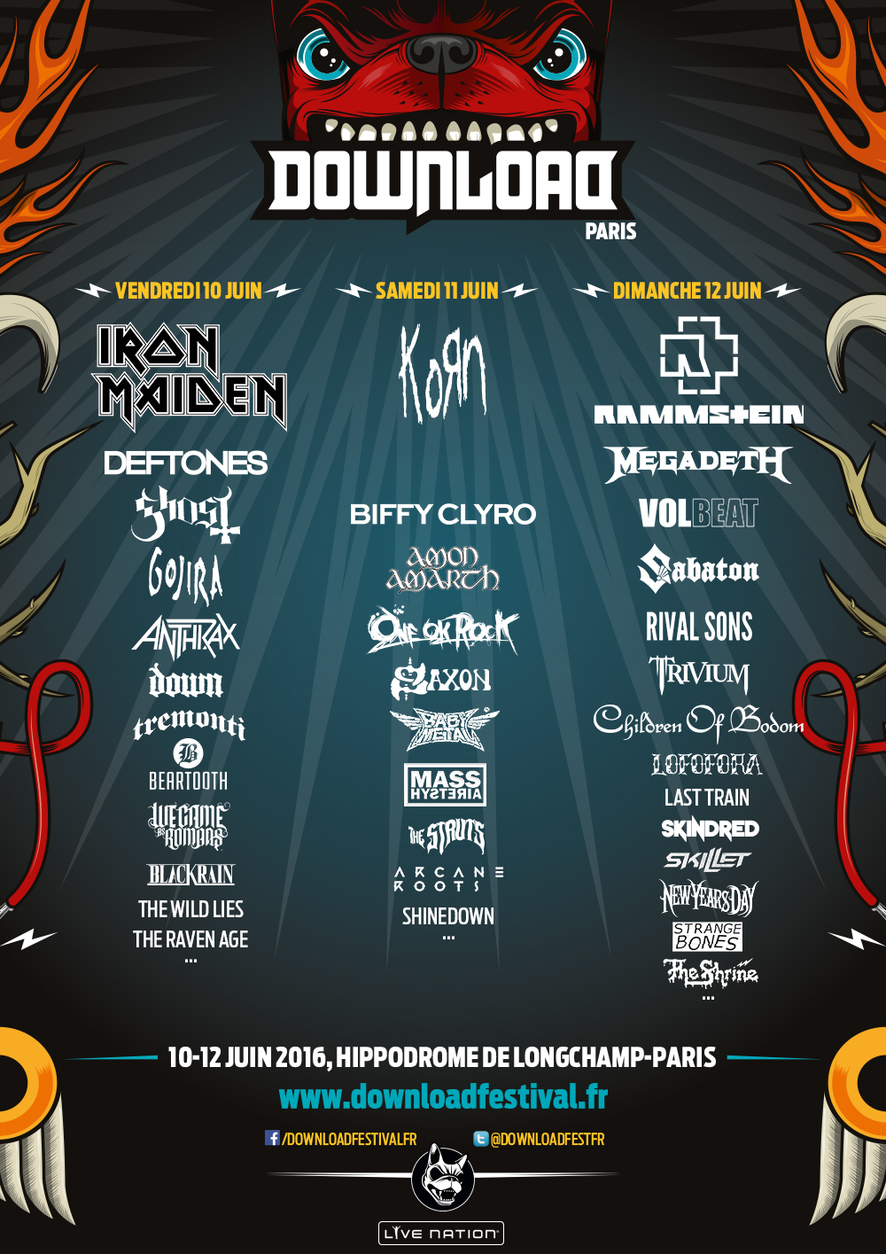 Download Festival Paris 2016 Lineup 1
