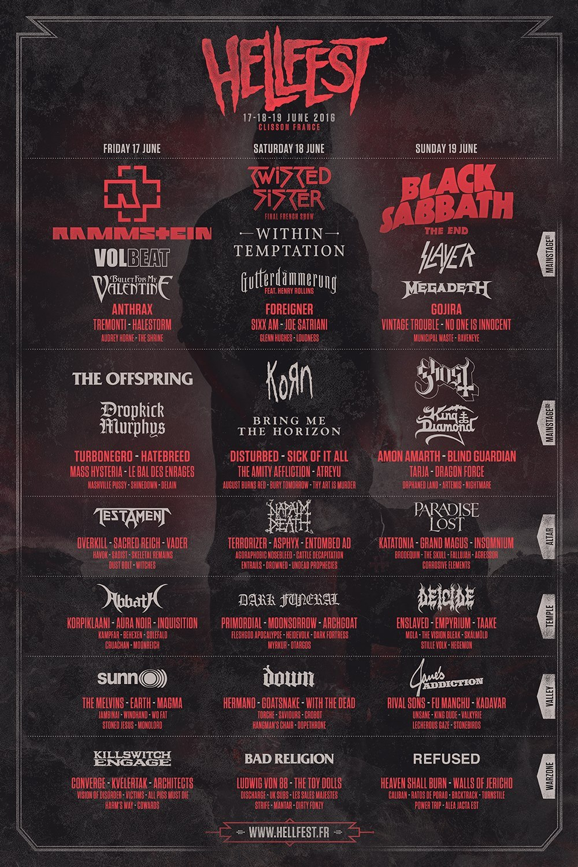 Hellfest 2016 Final Lineup