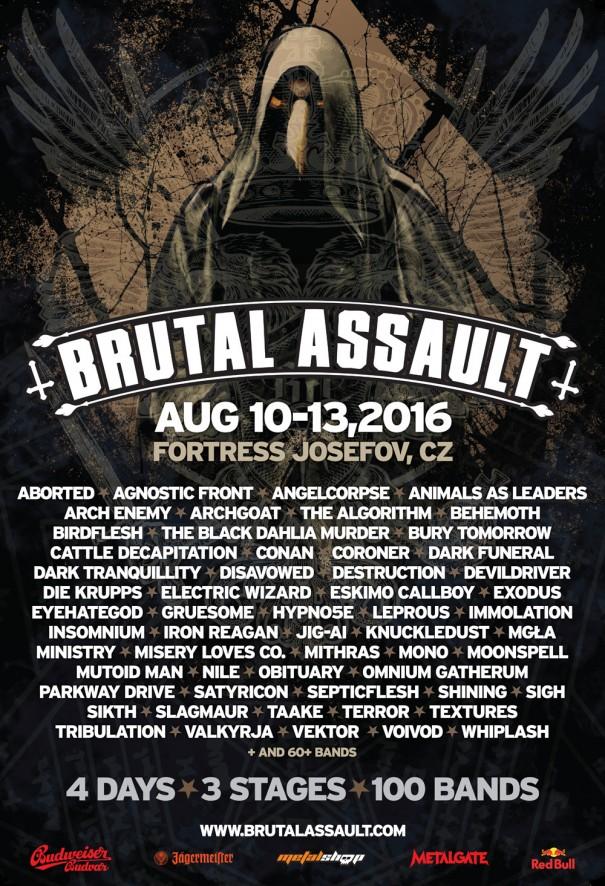 Brutal Assault Festival 2016 Lineup