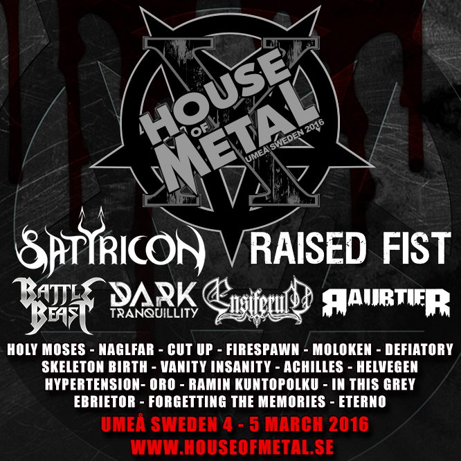 House Of Metal 2016