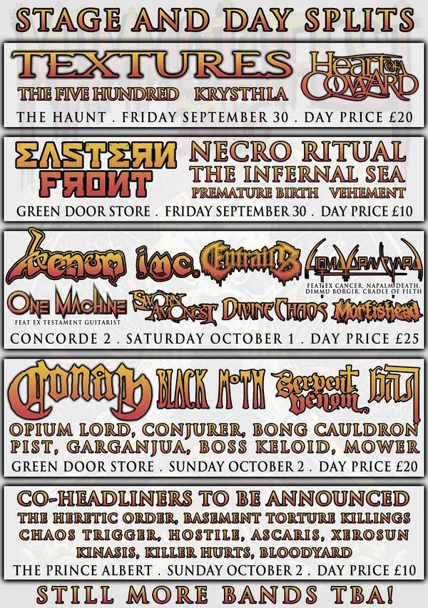 Mammothfest 2016 Lineup