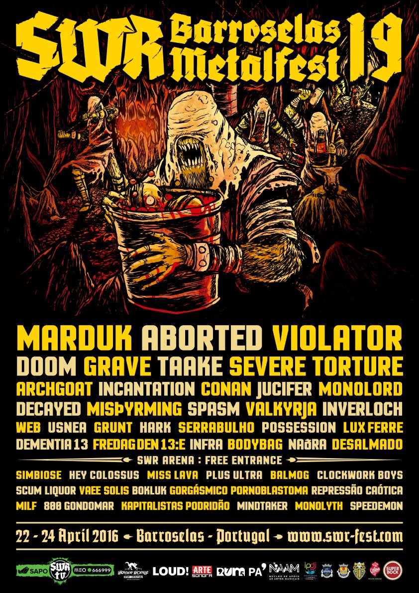 SWR Barroselas Metalfest 2016 Final Lineup