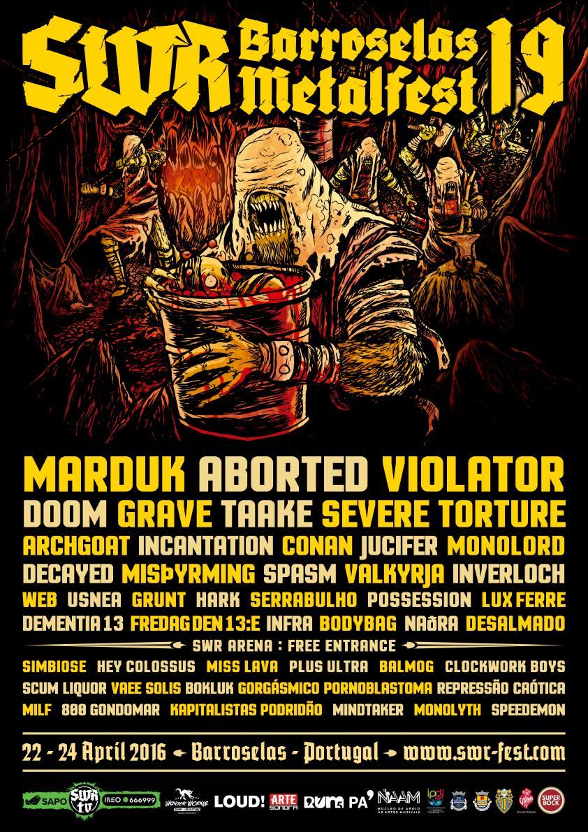 SWR Barroselas Metalfest 2016 Final Lineup