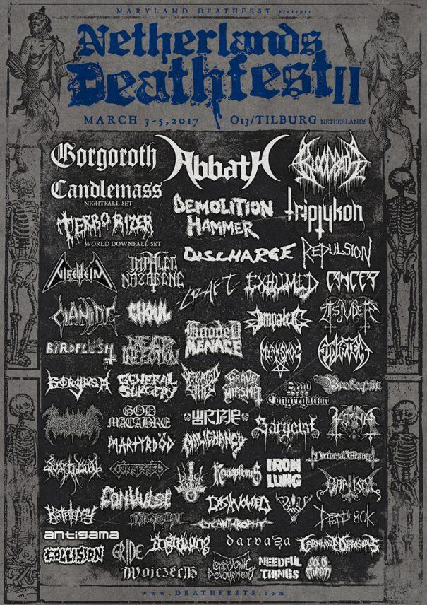 Netherlands Deathfest II Lineup