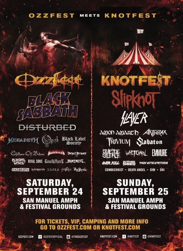 Black Sabbath , Slipknot and Slayer are among the bands that will ...