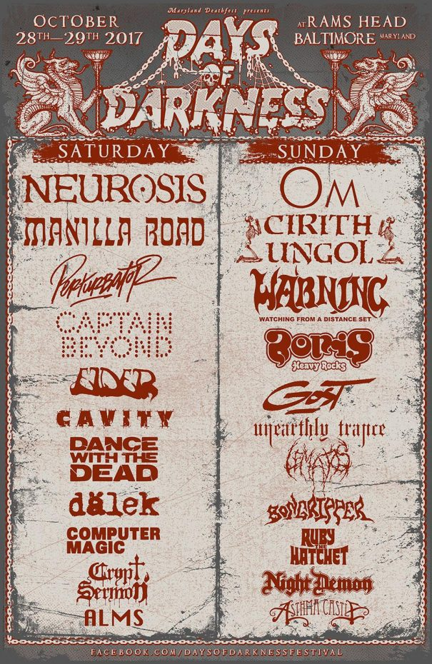 Days Of Darkness Festival 2017